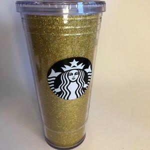 Sparkly gold venti Starbucks cold cup